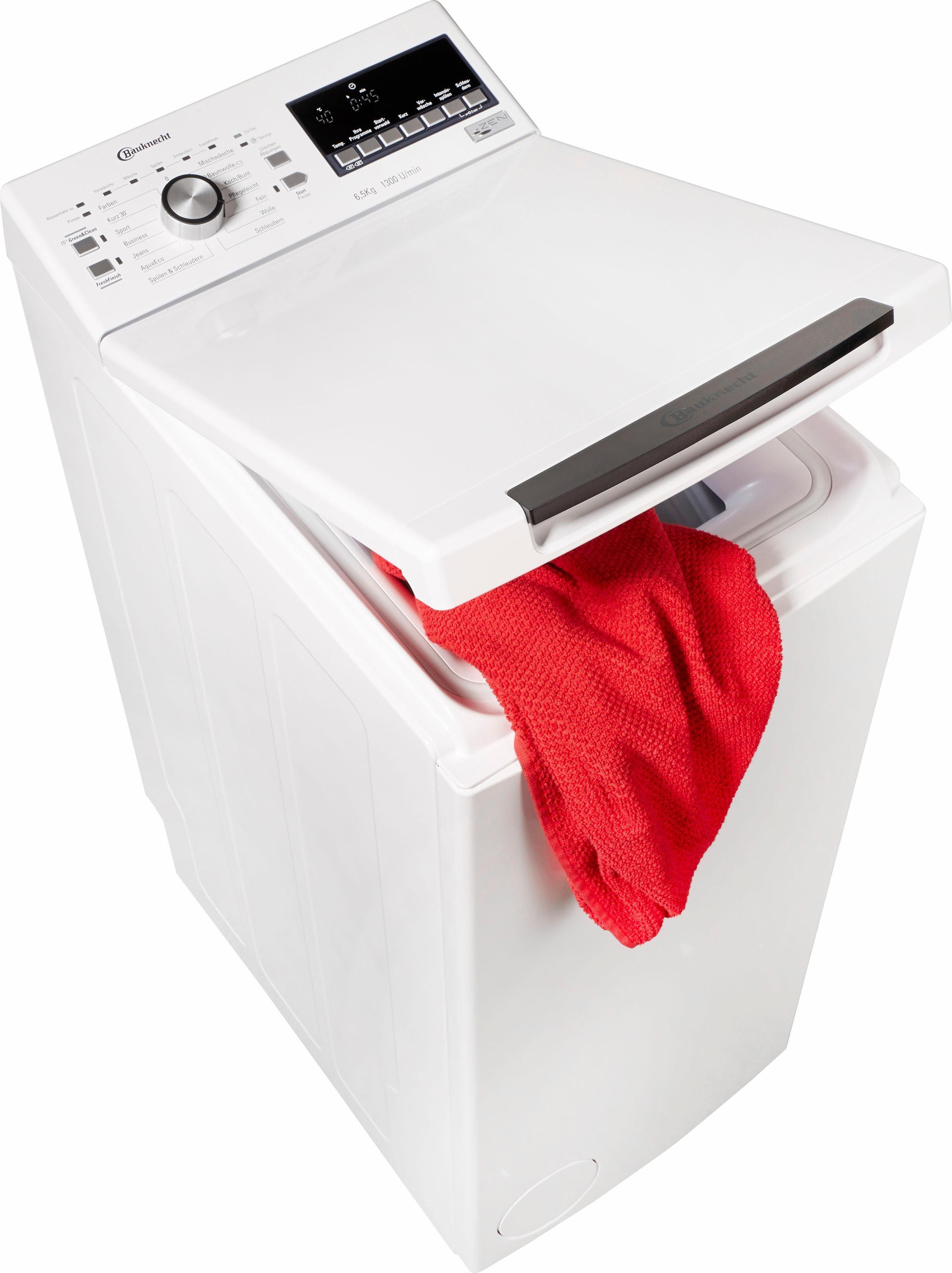 BAUKNECHT Waschmaschine Toplader WAT 6513 DD, 6,5 kg, 1300 U/Min