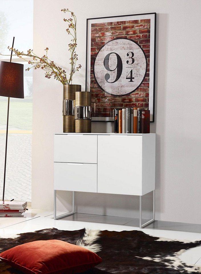 inosign kommode breite 80 cm mit modernem kufengestell aus metall online kaufen otto. Black Bedroom Furniture Sets. Home Design Ideas