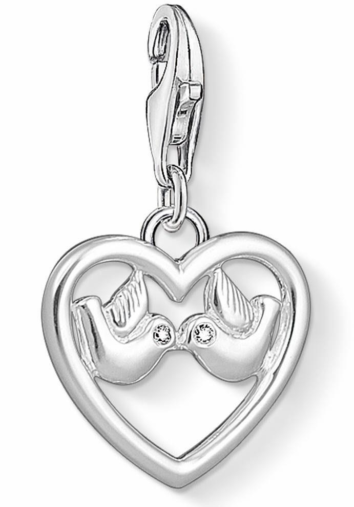 THOMAS SABO Charm Herz »Herz mit Tauben, 1383-051-14« mit Zirkonia