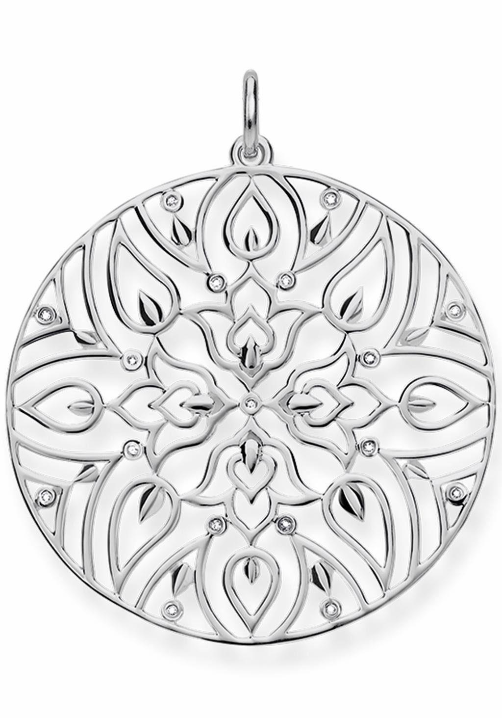 THOMAS SABO Kettenanhänger »Ornament, D_PE0003-725-21«, mit Diamanten