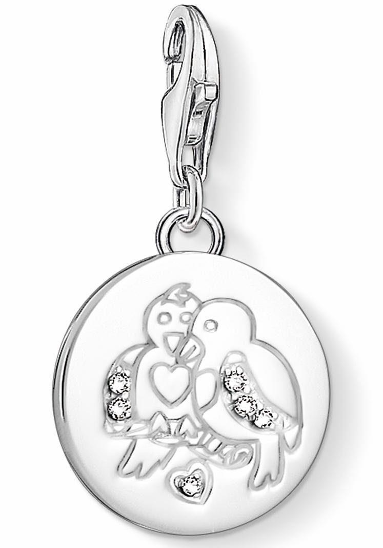THOMAS SABO Charm-Einhänger »Turteltäubchen, 1388-051-14« mit Zirkonia