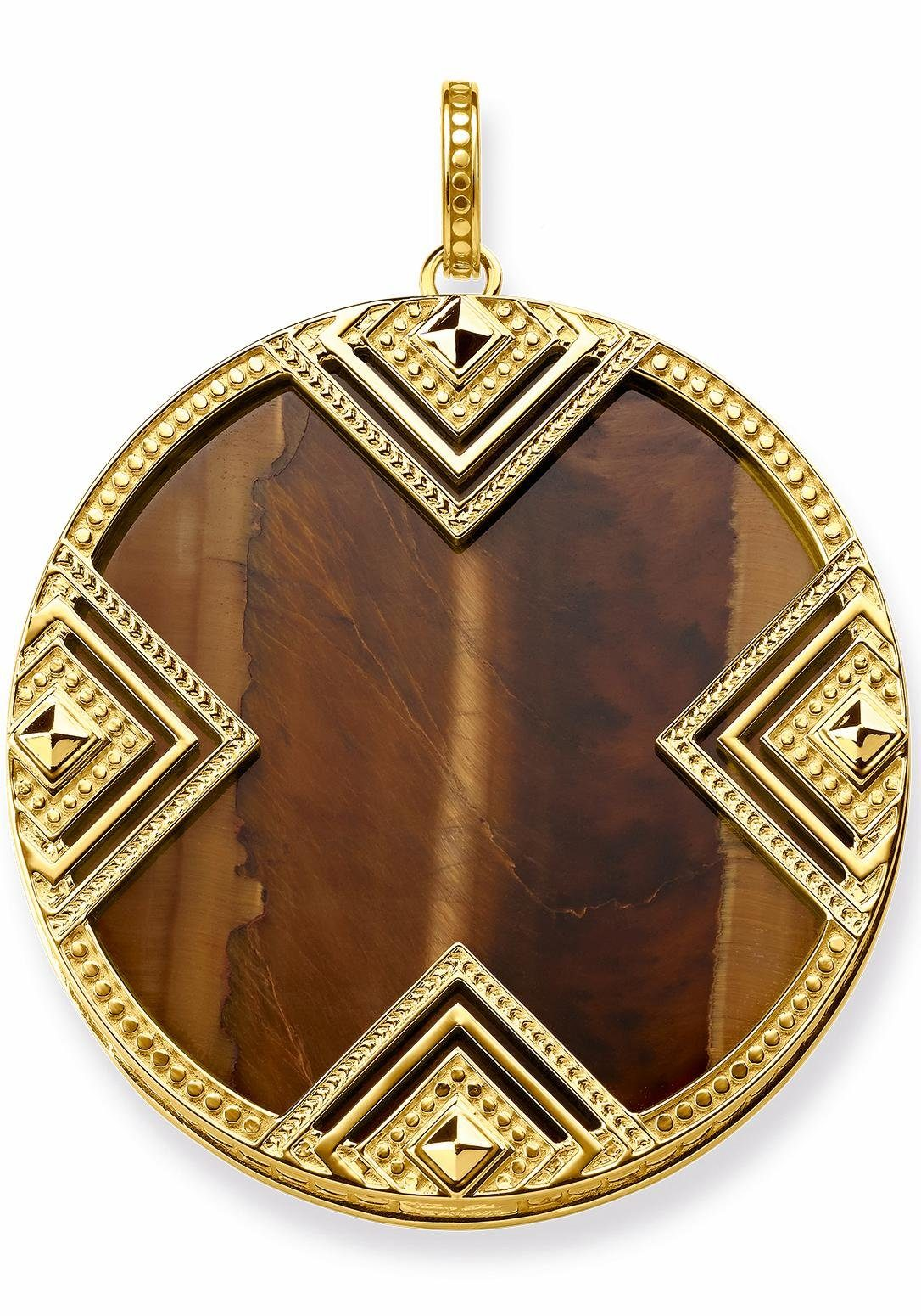 THOMAS SABO Kettenanhänger »Afrika Ornamente, PE748-887-2« mit Tigerauge