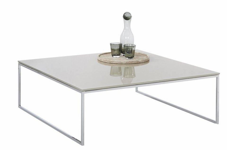 W.SCHILLIG Quadratischer Couchtisch »copenhagen« mit Glastischplatte ...
