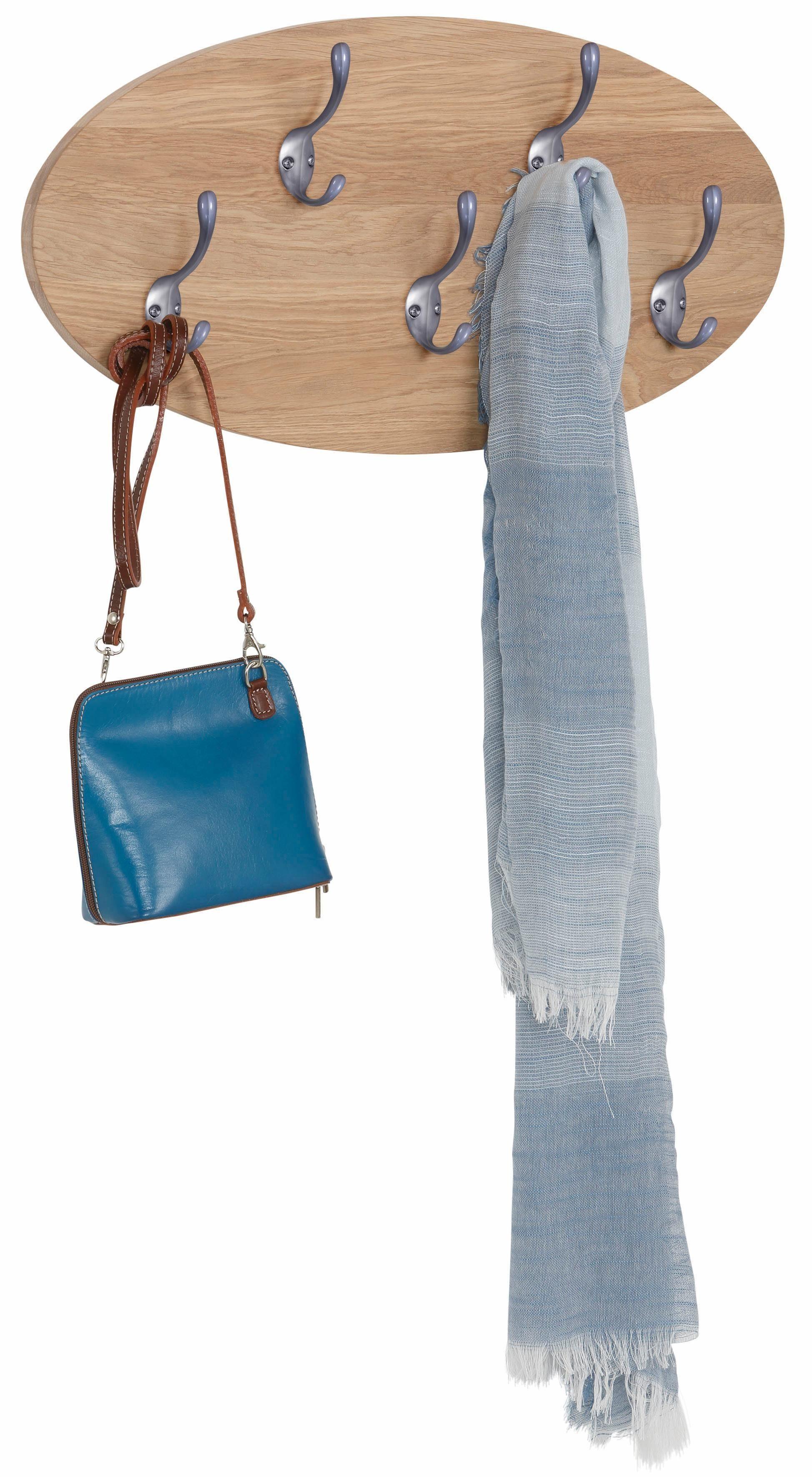 Home affaire Garderobenleiste aus massiver Eiche, 60 cm breit