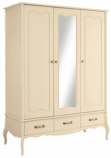 Home affaire Kleiderschrank «Lebo», 3-, oder 4-türig, in 2 Farben, in romantischem Design