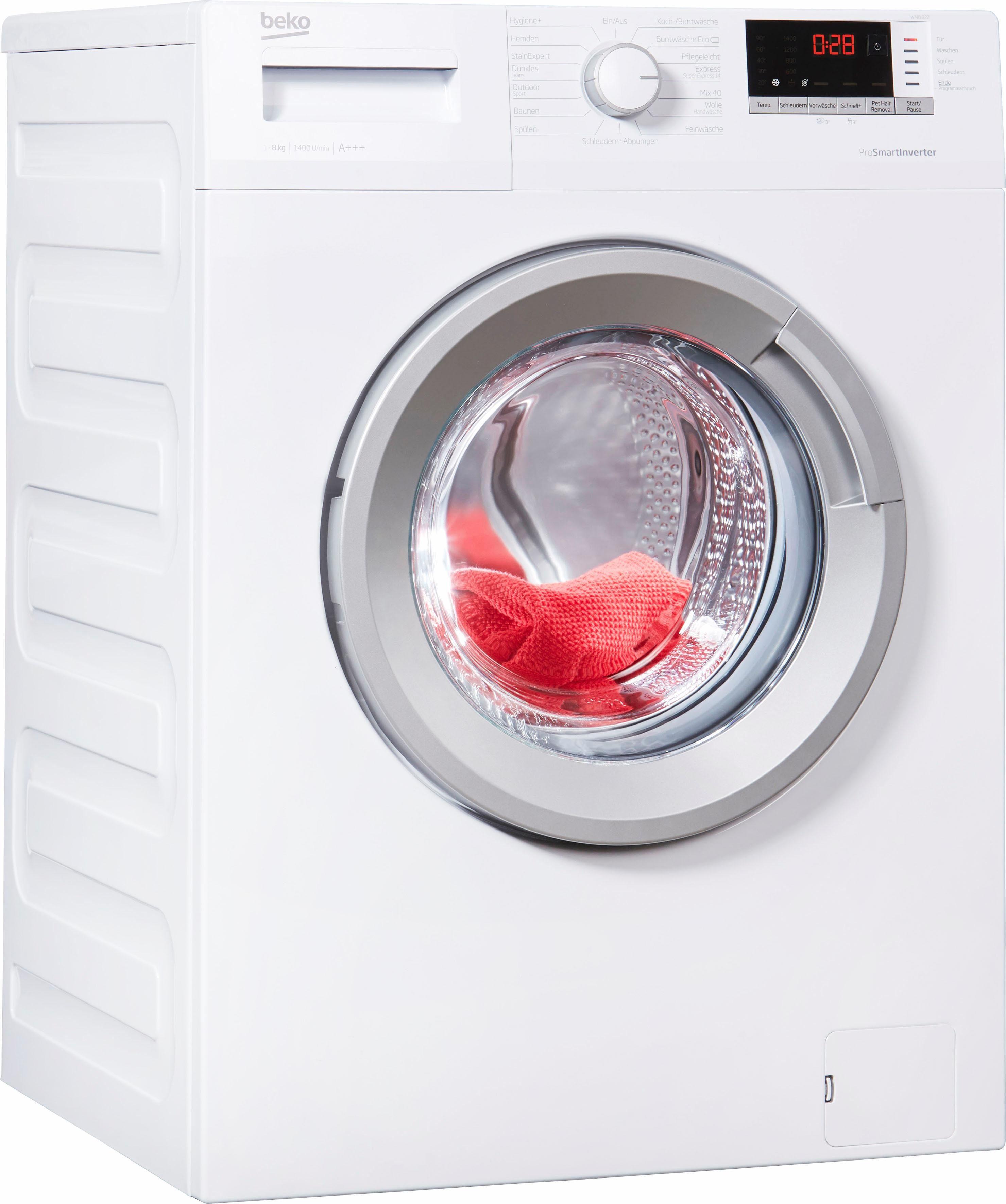 BEKO Waschmaschine WMO 822, A+++, 8 kg, 1400 U/Min
