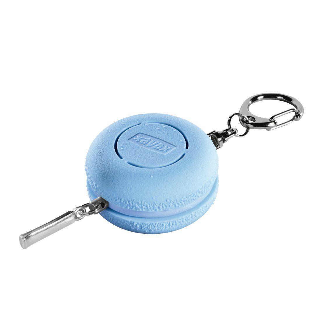 Xavax Mobiler Taschen-Alarm mit Schlüsselanhänger, Panikalarm »100dB, Macaron, blau«