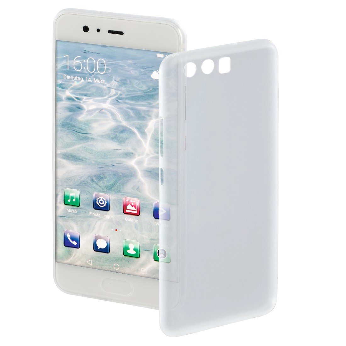 Hama Cover Ultra Slim für Huawei P10, Weiß