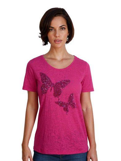 Amy Vermont Shirt mit Pailletten bestickt