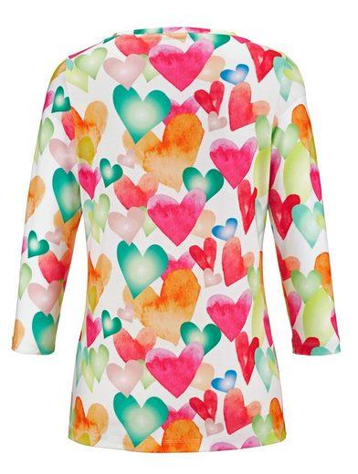 Amy Vermont Shirt allover mit Herzen bedruckt