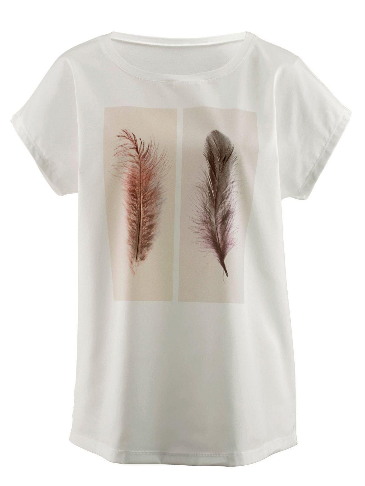 Amy Vermont Shirt mit bedrucktem Webeinsatz - broschei