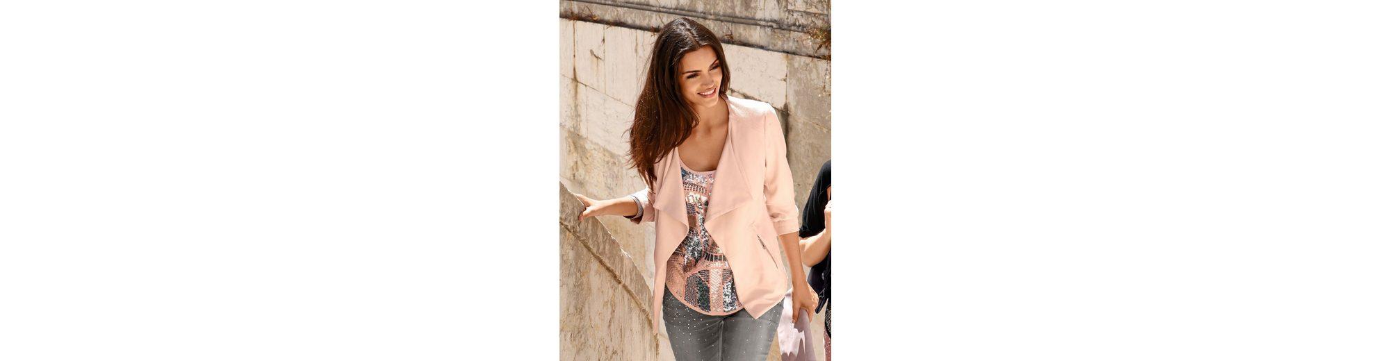 Neuankömmling Amy Vermont Jacke aus beschichtetem Jersey Zum Verkauf Finish bp3PV5k6