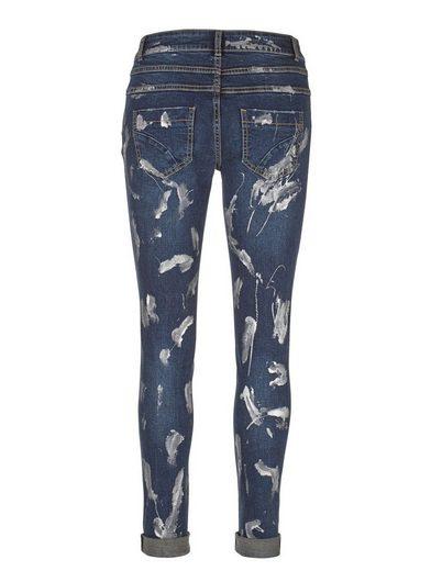 Amy Vermont Jeans mit Farbeffekten