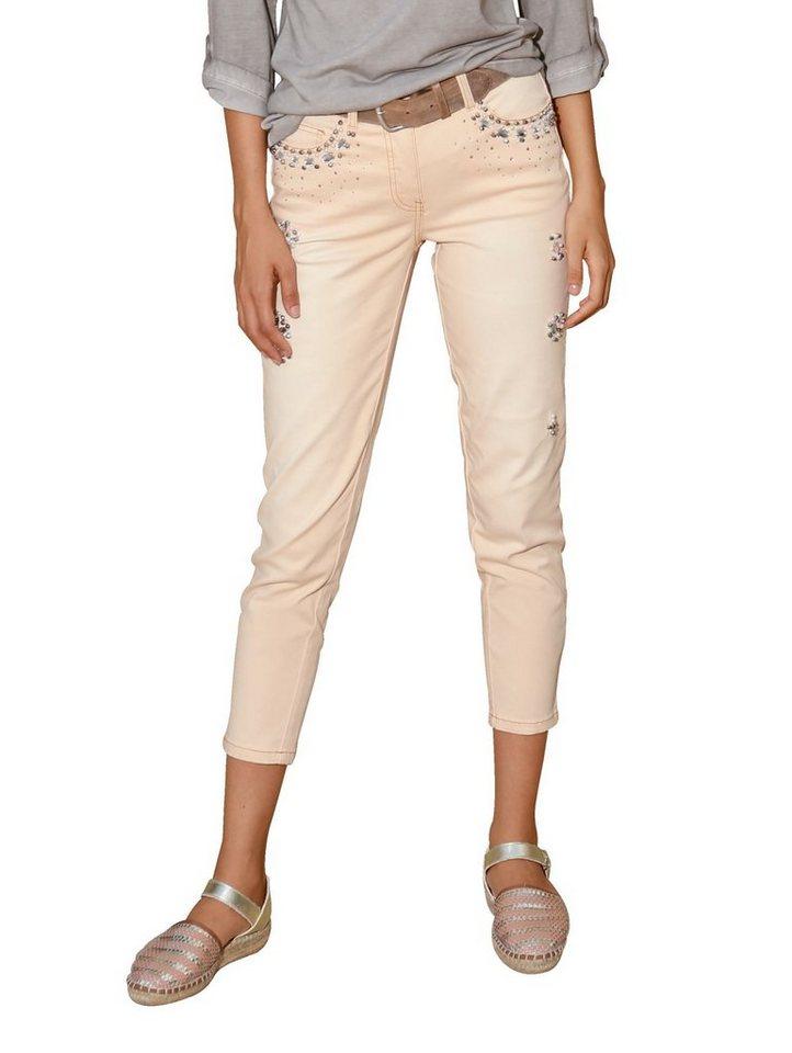 amy vermont 7 8 jeans mit strass und perlendekoration. Black Bedroom Furniture Sets. Home Design Ideas
