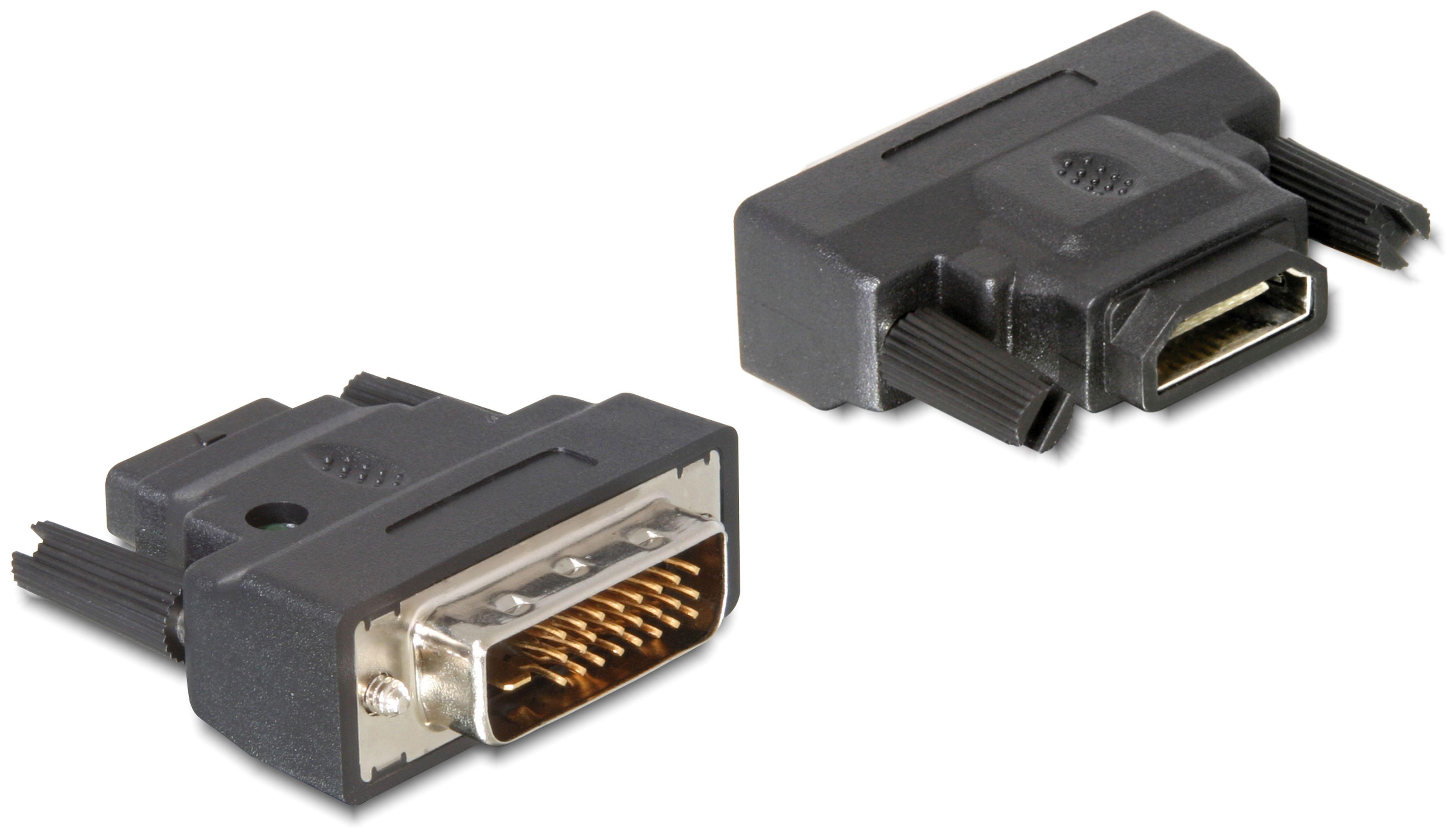 DELOCK Adapter »DVI-25pin Stecker auf HDMI Buchse«