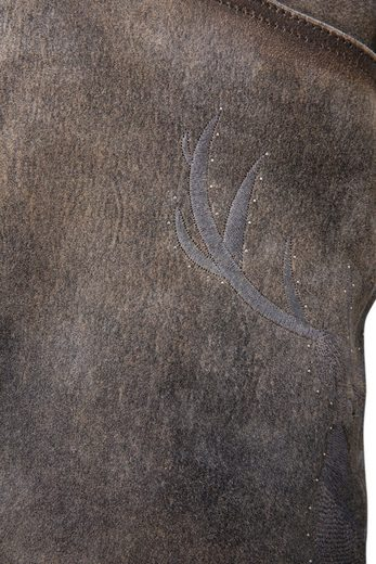 Country Line Kurze Trachtenlederhose Damen mit funkelnden Steinchen