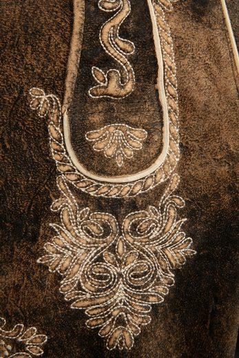 Marjo Kurze Trachtenlederhose Herren mit Gürtel