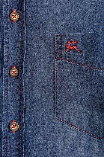 OS-Trachten Trachtenhemd mit aufgesetzter Brusttasche