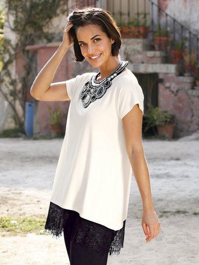 Amy Vermont Shirt mit Spitze am Saumabschluss
