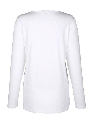 Amy Vermont Shirt mit Webeinsatz vorne
