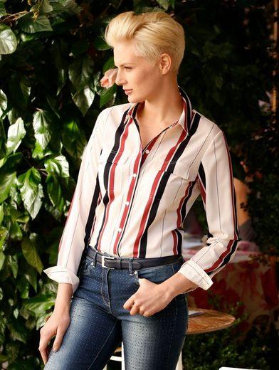 Amy Vermont Hemdbluse mit Streifendessin