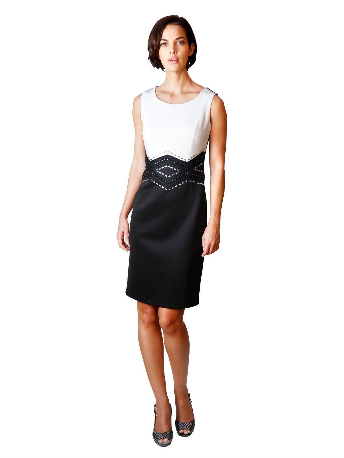 Amy Vermont Jerseykleid mit Strasssteinchendeko im Vorderteil jetztbilligerkaufen