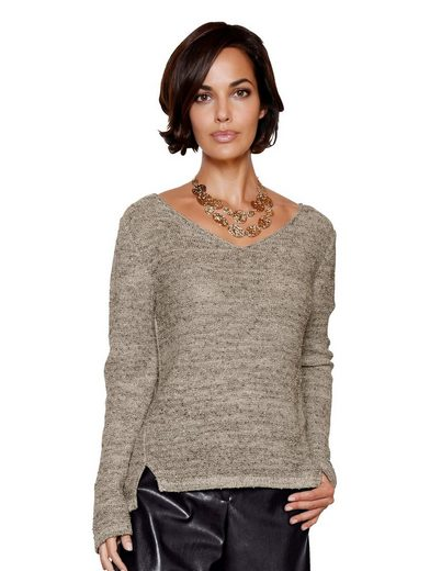 Amy Vermont Pullover With Metallised Yarn