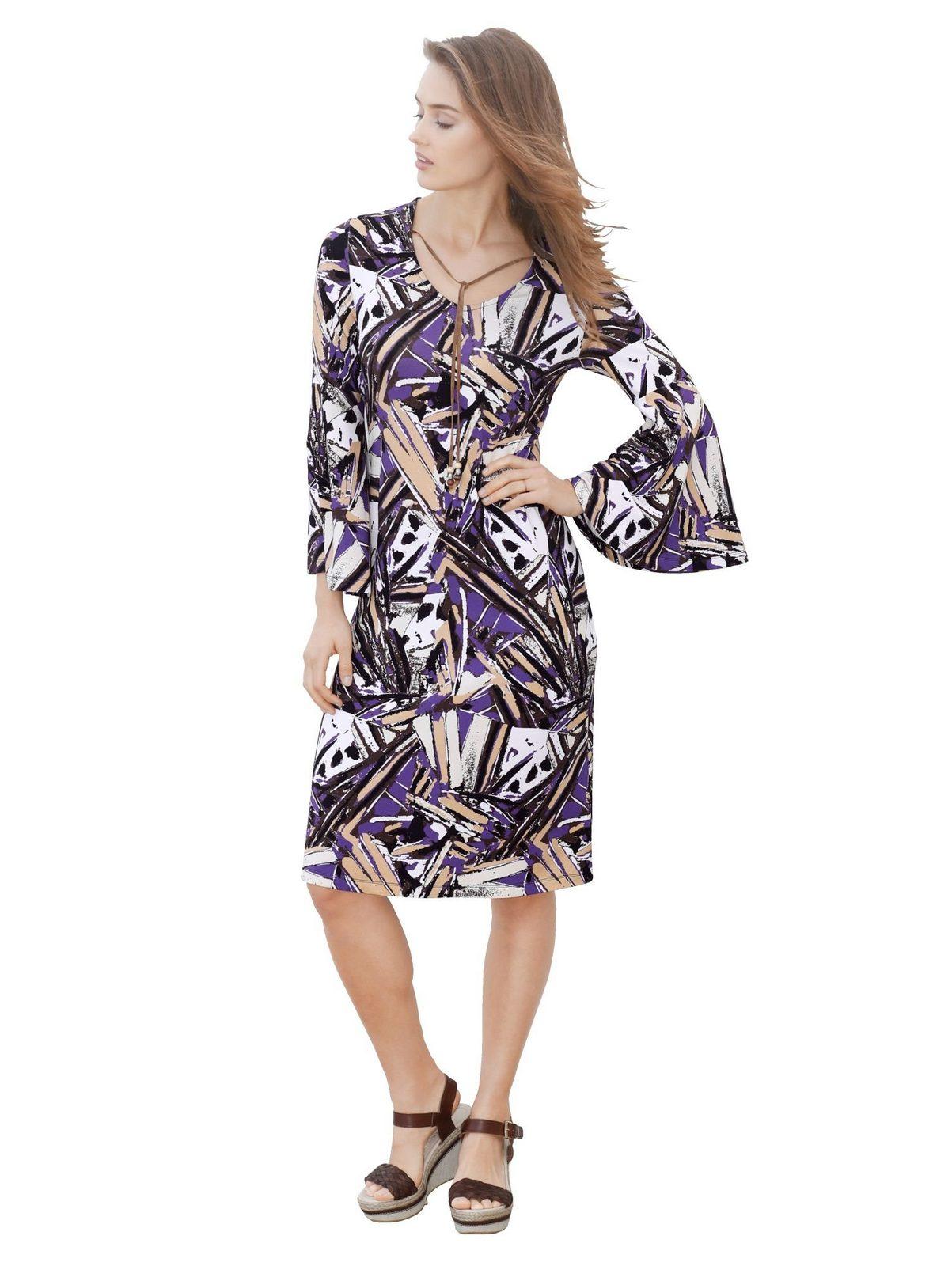 Amy Vermont Jerseykleid allover bedruckt jetztbilligerkaufen
