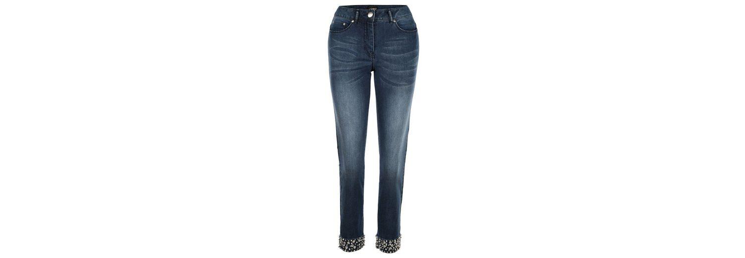 Freies Verschiffen Beliebt Amy Vermont Jeans mit Perlen- und Strassdekoration Billige Veröffentlichungstermine 2653CP4