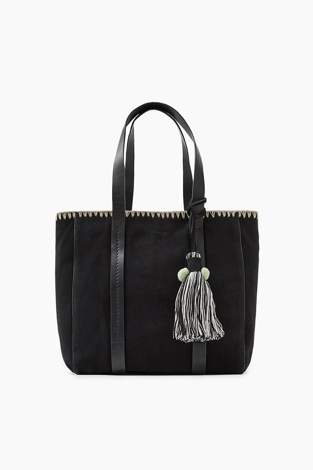 ESPRIT CASUAL Veloursleder-Shopper mit Stitching-Detail