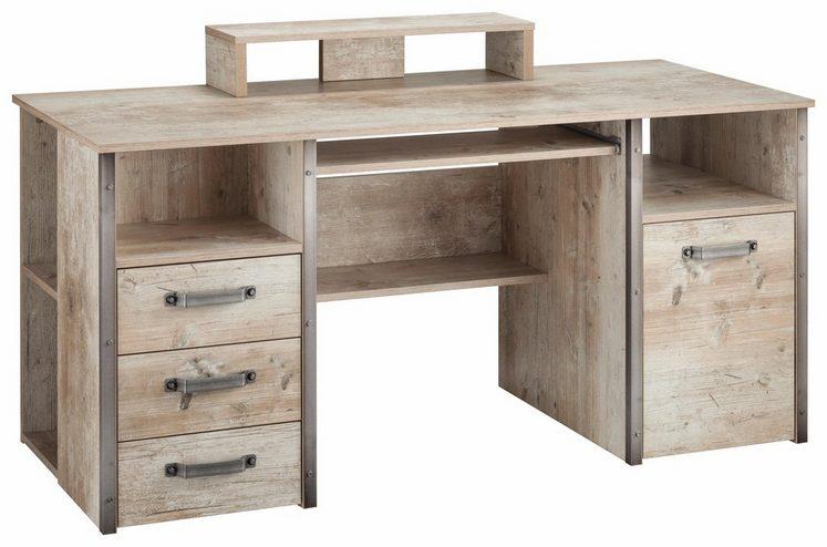 Schildmeyer Schreibtisch »Harkon« mit Griffen und Winkeln in Stahl-Design