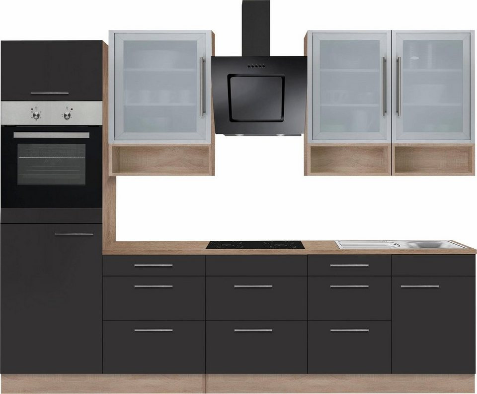 optifit k chenzeile ohne e ger te aue breite 280 cm. Black Bedroom Furniture Sets. Home Design Ideas