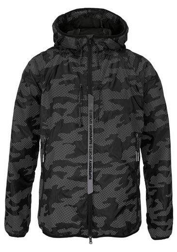 Superdry Running Jacket Core Cagoule, With Thumb-holes