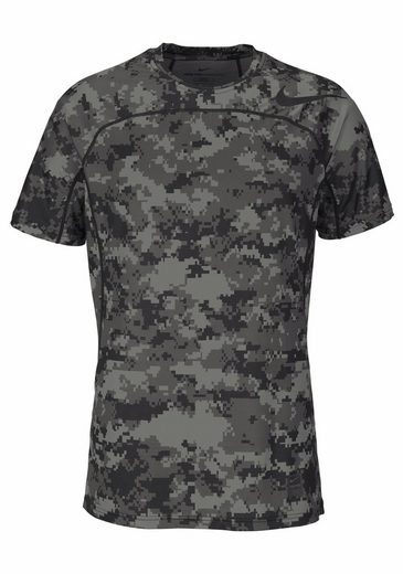 Nike Funktionsshirt MEN NIKE PRO HYPERCOOL TOP SHORTSLEEVE FITTED D CAMO