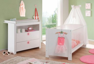 baby spar set trend babybett wickelkommode 2 tlg in wei online kaufen otto. Black Bedroom Furniture Sets. Home Design Ideas