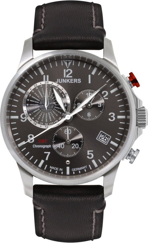 junkers uhren chronograph worldtimer 6892 2 made in germany online kaufen otto. Black Bedroom Furniture Sets. Home Design Ideas