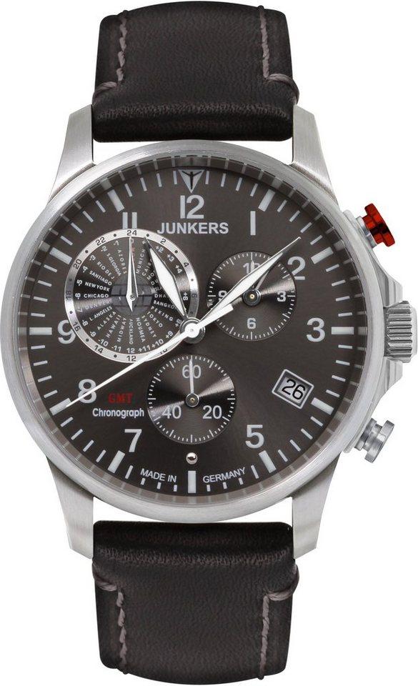 junkers uhren chronograph worldtimer 6892 2 made in. Black Bedroom Furniture Sets. Home Design Ideas