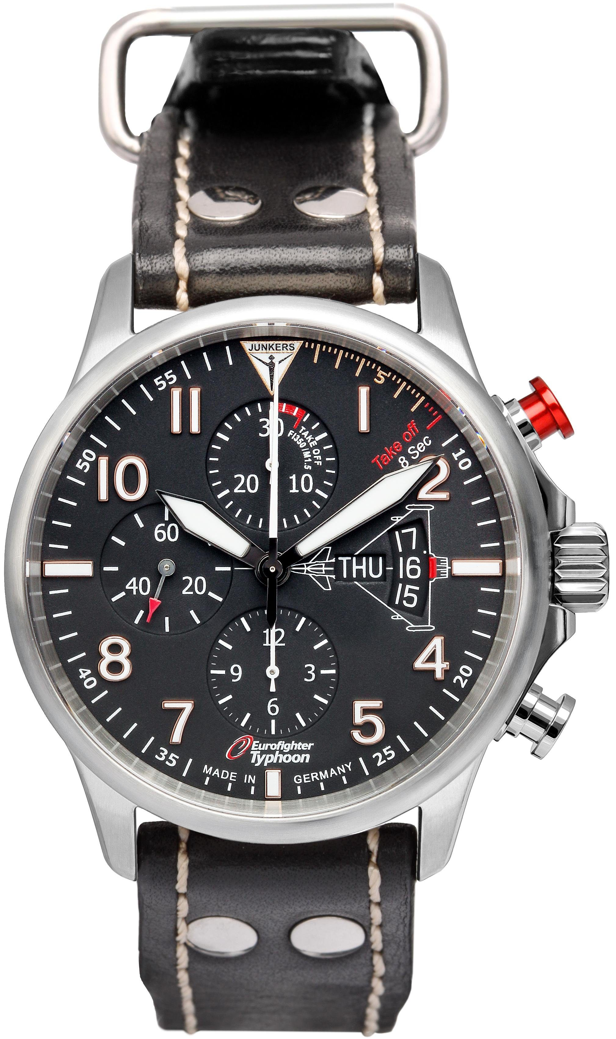 Junkers-Uhren Chronograph »Eurofighter, 6826-5«, Made in Germany