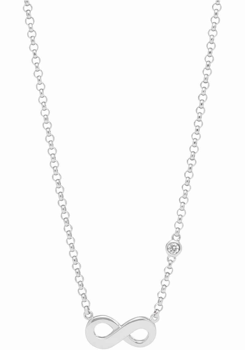 Fossil Silberkette »Infinity/Unendlichkeit, INFINITIVE LOVE, JFS00394040«, mit Zirkonia