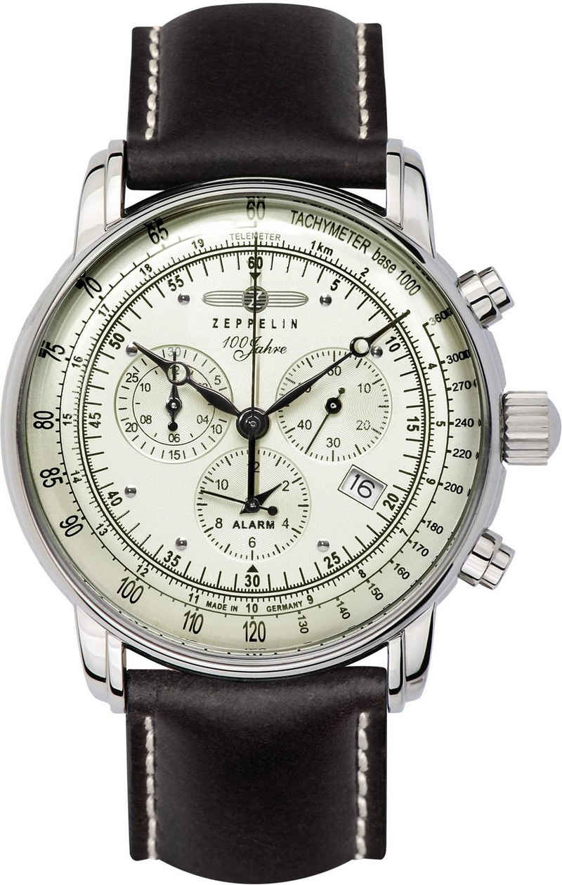 ZEPPELIN Chronograph »100 Jahre Zeppelin, 8680-3«, Made in Germany