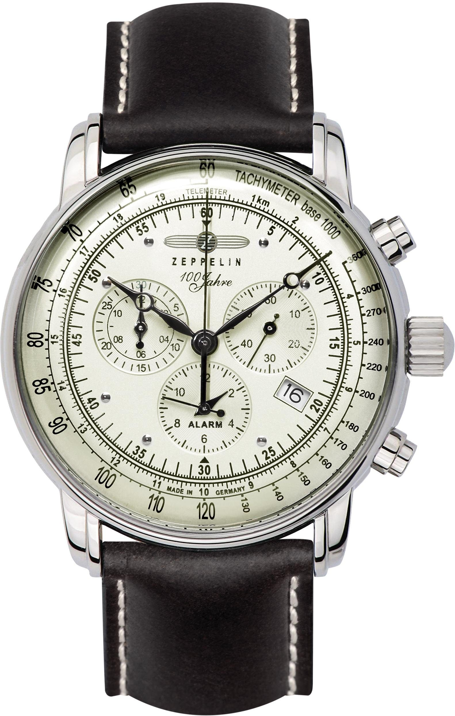 ZEPPELIN Chronograph »100 Jahre Zeppelin, 8680-3« Made in Germany