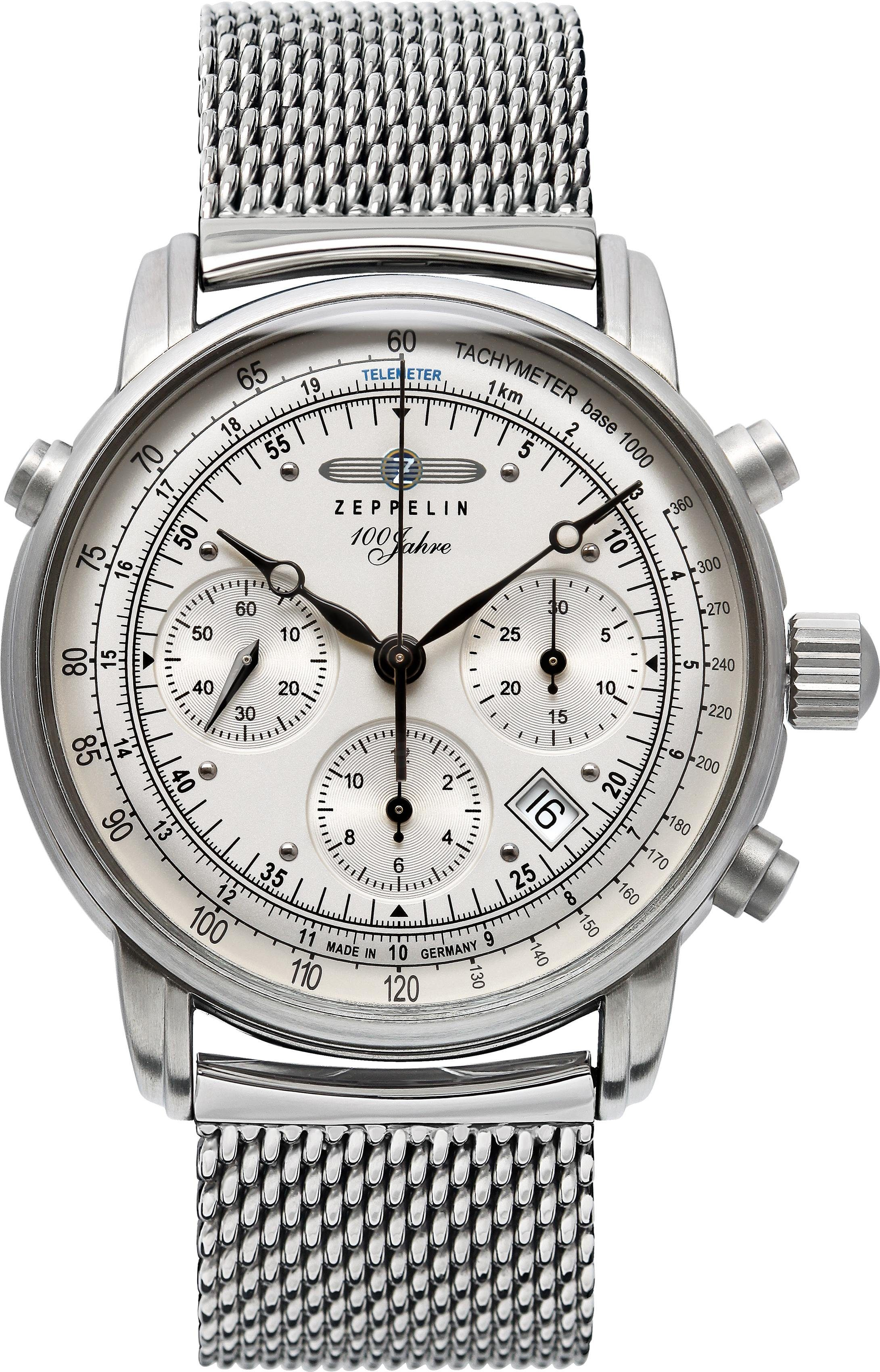 ZEPPELIN Chronograph »100 Jahre Zeppelin, 7618M-1«, Made in Germany