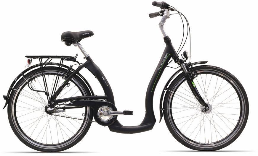 HAWK Bikes ALU-Cityrad, 26 Zoll, RH 46 cm, Rücktritt., »City Wave Easy Boarding«