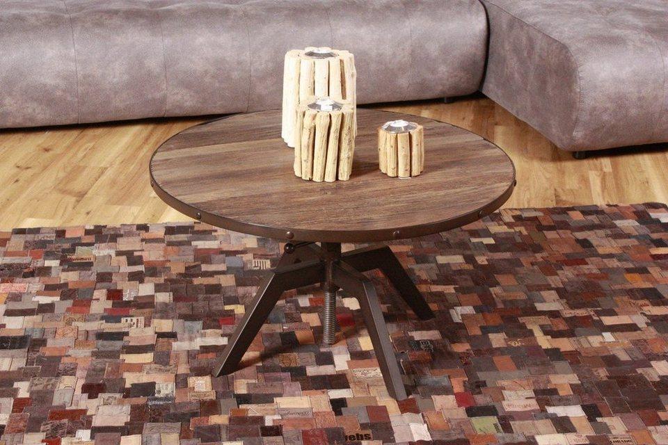 Kasper wohndesign couchtisch altholz eisen schwarz tenga for Wohndesign versand