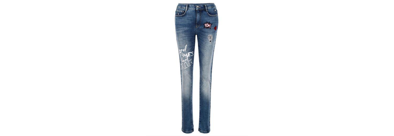 Amy Vermont Jeans mit Patches Bilder Günstig Online Niedrigster Preis Verkauf Online Austrittsstellen Zum Verkauf Günstig Kaufen Neueste Spielraum 2018 Neu HS0ceS
