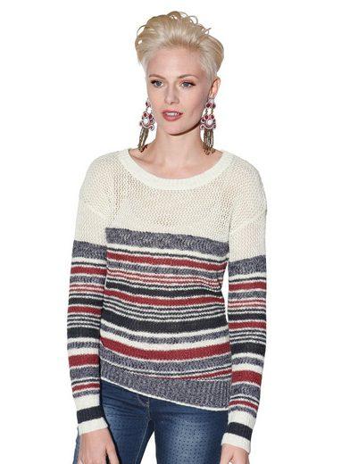 Amy Vermont Crochetpullover mit Ringeldessin
