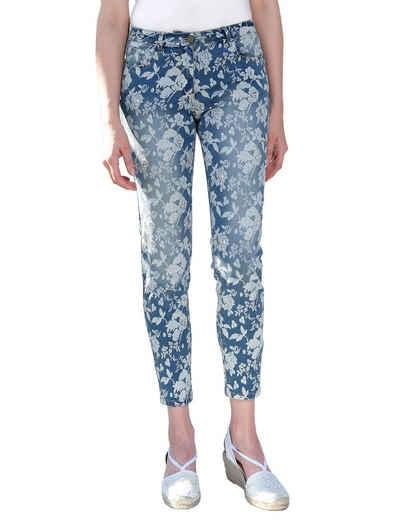 Amy Vermont Jeans mit Blumendruck Sale Angebote Schwarzheide