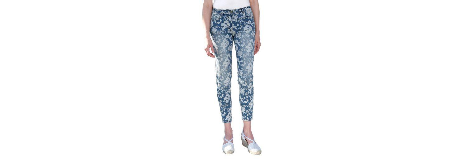 Amy Vermont Jeans mit Blumendruck Exklusiv Günstig Kaufen Vorbestellung Rabatt Veröffentlichungstermine 2018 Neueste 3K8k0G