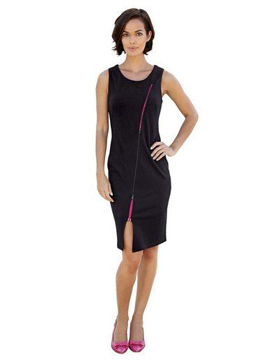 Amy Vermont Jerseykleid mit 2-Wege-Reißverschluss im Vorderteil