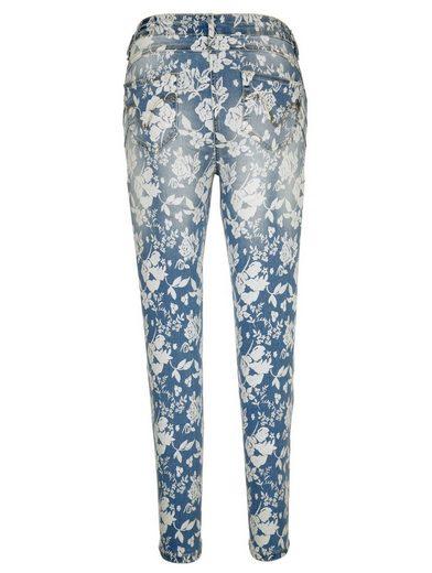 Amy Vermont Jeans mit Blumendruck